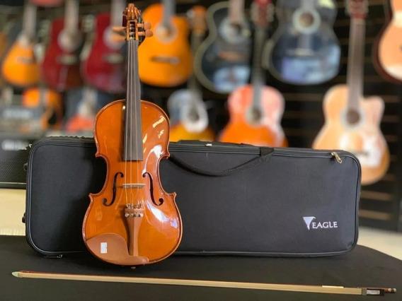 Violino 4/4 Ve441 Eagle Estojo Case Breu Arco Mais Vendido