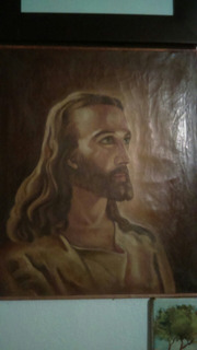 Arte Sacro Antiguos Rostro De Jesús.