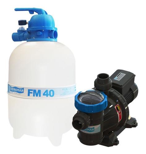 Bomba E Filtro Para Piscina Sodramar Bmc-50 1/2 Cv + Fm-40