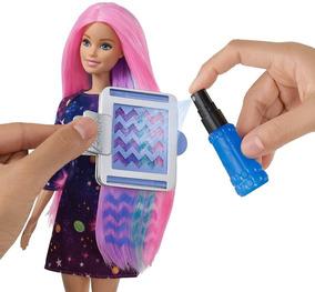 Boneca Barbie Cabelos Coloridos - Muda Cor Com Água - Mattel