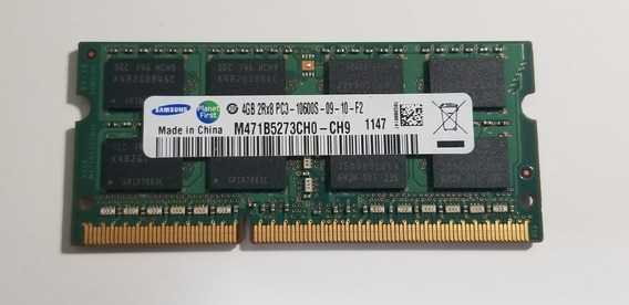 Memoria 4gb Notebook Ddr3 1333mhz Pc3-10600s 2rx8 Samsung