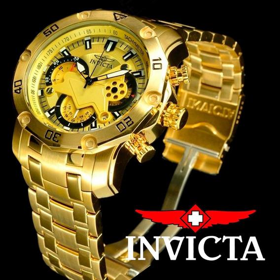 Relógio Invicta Pro Diver 22761 Ouro 18k Masculino Promoção