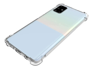 Funda Anti Shock Transparente Para Samsung A51 + Glass Plano