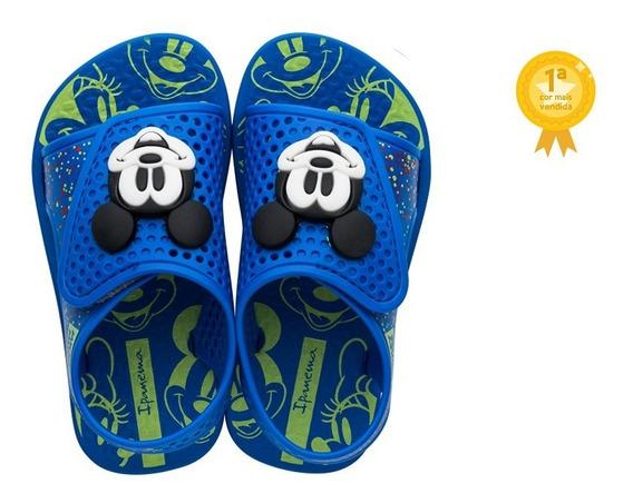 Chinelo Sandália Infantil Para Bebês Mickey Mouse E Minnie Love Disney Ipanema Original Super Conforto Menino Menina