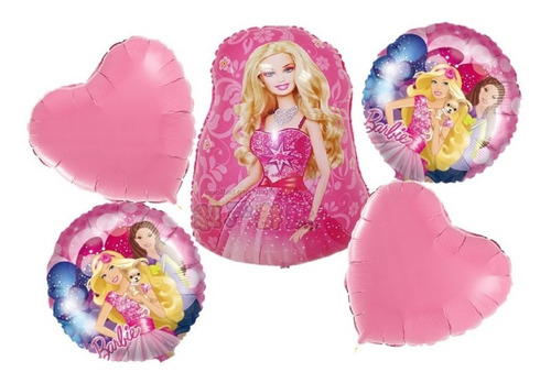 Globos Metalizado Barbie X5