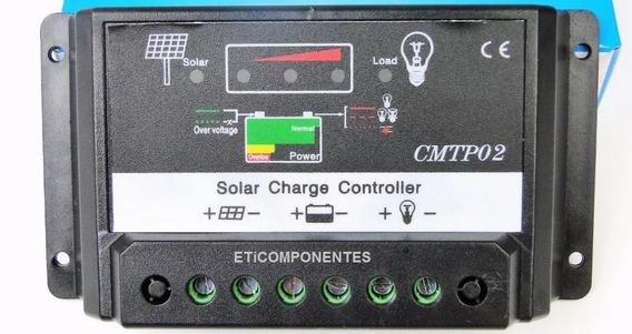Controlador De Carga Painel Solar Automatico 10a-12/24v Novo