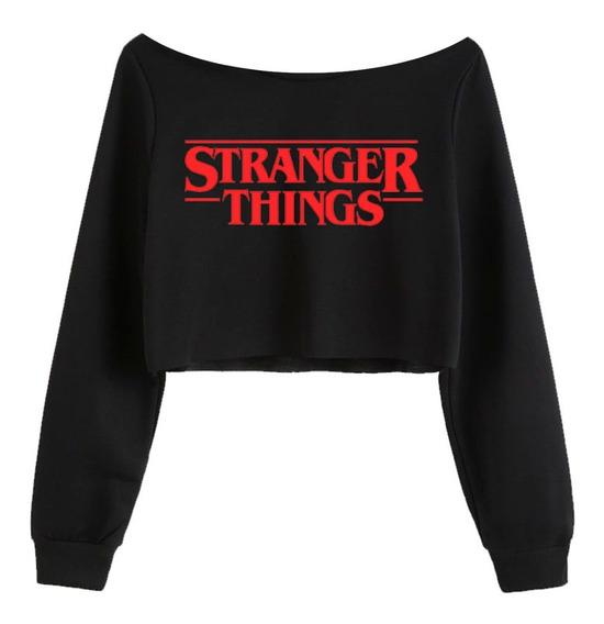 Sudadera Corta ( Tipo Crop Top ) - Stranger Things