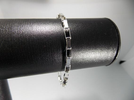 Pulseira Cartier Elo Tijolinho Grossa Em Prata 925 21cm 4mm