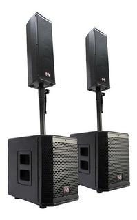Sistema De Audio Profesional 9000w Bluetooth Master