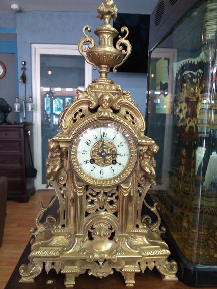 Hermoso Reloj Año 1800 Bronce Solido