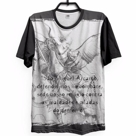 Camiseta São Miguel Arcanjo Igreja Deus Fé Oração Proteção