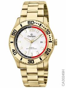 Relógio Masculino Champion Dourado Ca30249h - Original