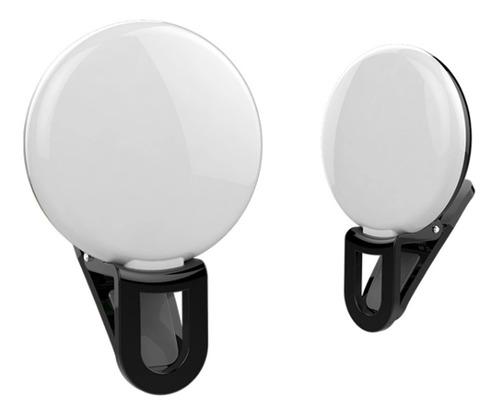 Anillo Aro Luz Led Mini Celular Tablet Recargable