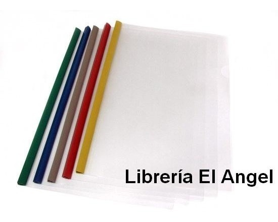 Carpeta Transparente Cristal Con Vaina A4 Paq X10 Color Surt