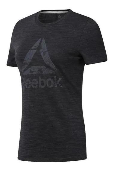 Reebok Remera Mujer - Marble Logo Tee N