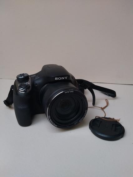 Câmera Sony Cyber-shot Dsc-h400 Usada Com Nota