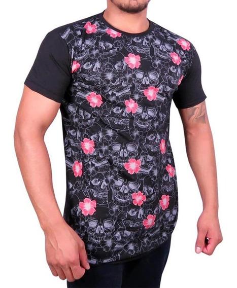 Kit 10 Camisa Blusa Masculina Long Line Floral Swag Atacado
