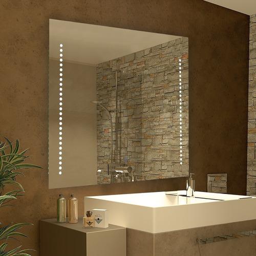 Espejo C/luz Touch Led Incorporada  Linea De Puntos En Marco