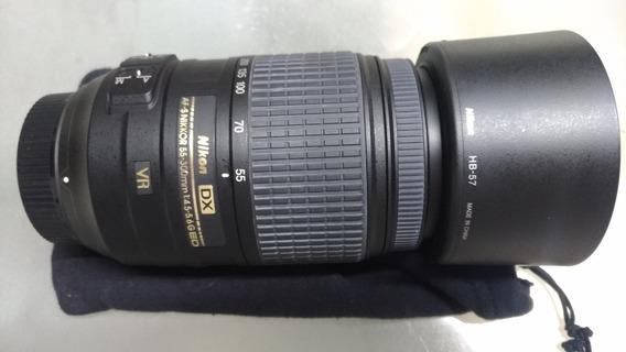 Lente Nikon 55-300 Vr Linda!