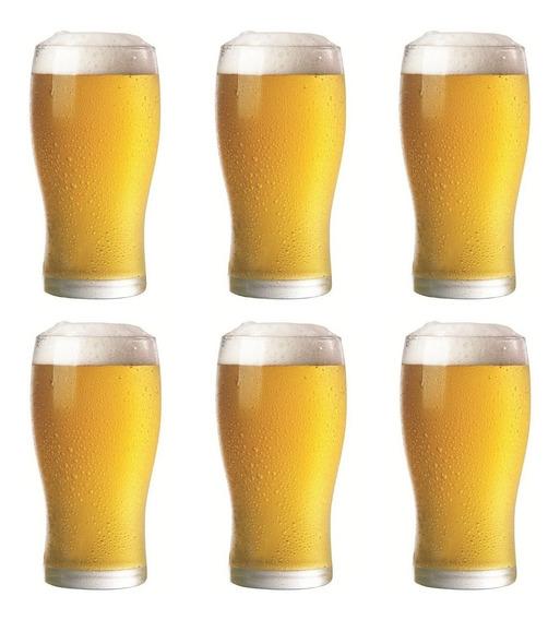 Vasos Cerveceros Pinta Rigolleau Set Vasos De Cerveza Vidrio Grueso Para Cervecería Apilables - 540 Ml
