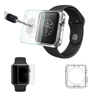 Funda Flexible Case + Cristal Templado Apple Watch 42mm 38mm