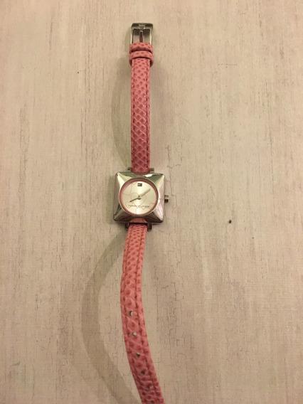 Relógio Tommy Hilfiger Com Pulseira De Couro Rosa