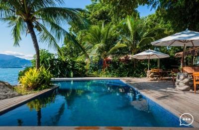 Ref 8380 Belissima Casa Costeira Na Ilha Bela - Praia Do Curral Em Terreno De 4.000 M² , E Construção De 1.500 M2, Com 6 Dorms (4 Suítes) . - 8380