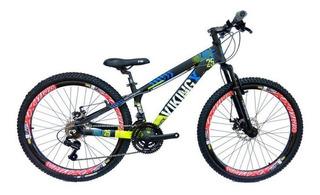 Bicicleta Freeride Vikingx Tuff 25 21v Rapid Fire Shimano