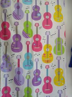 Guitarras De Colores Cortina Decorativa Para Tu Niña