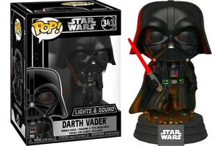 Funko Pop Darth Vader #343 Electronic Lights Sound Star Wars