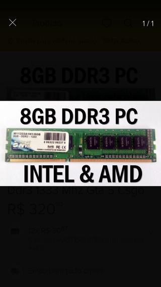 Memoria Ddr3 8gb 1333 Mhz Pc ..