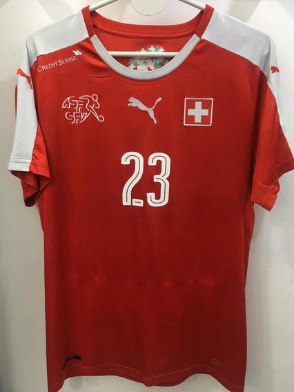 Camiseta De La Selección De Suiza 23 Shaquiri