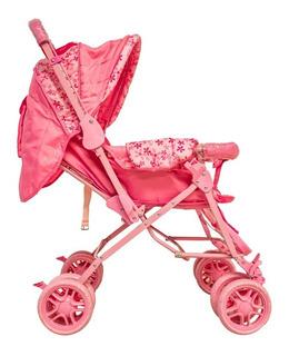 Cochecito De Bebé Manija Rebatible 3 Posiciones Plegable