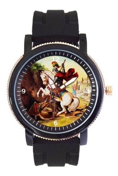 Relógio Masculino São Jorge Pulseira De Borracha 5036