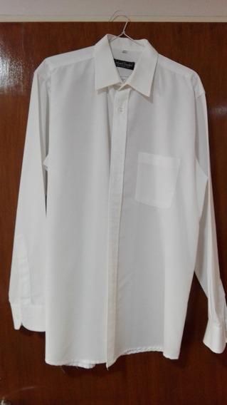 Camisas Hombre Lisa Blanca P/ Empresa Talle 38 Mlarga Usada