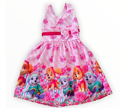 Vestido De Festa Infantil Temático Patrulha Canina