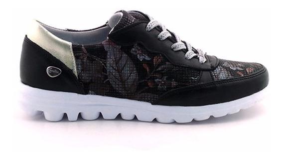Zapatilla Urbana Zapato Mujer Cuero Cavatini Goma Mczp05168