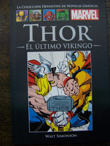 Imagen 1 de 3 de Thor * El Ultimo Vikingo * Walt Simonson * Marvel *
