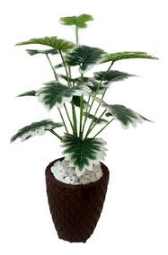 Planta Artificial Enfeites De Decoracao + Vaso Promocao