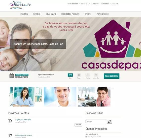 Site Personalizável Para Igrejas, Corporações, Instituição
