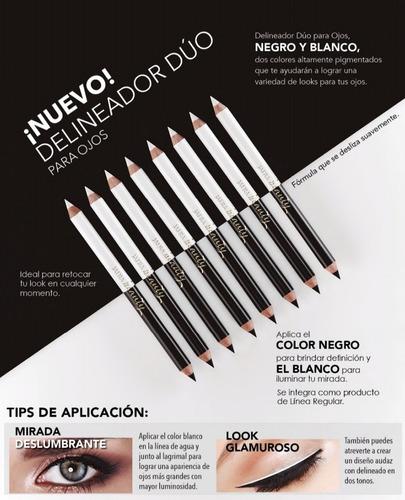 Imagen 1 de 1 de Delineador Para Ojos El Duo Perfecto Negro Y Blanco Jafra Or