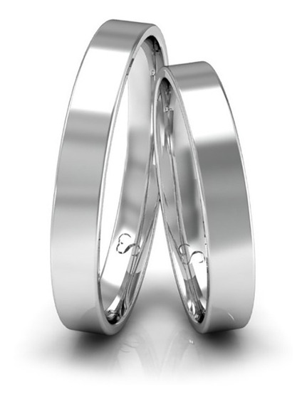 Alianças Namoro Prata Polidas 3mm 4g