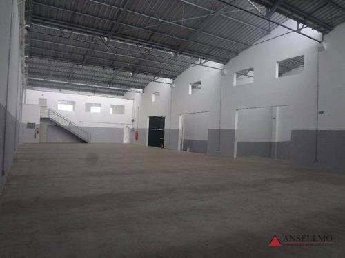 Imagem 1 de 14 de Galpão Para Alugar, 843 M² Por R$ 18.500,00/mês - Assunção - São Bernardo Do Campo/sp - Ga0414