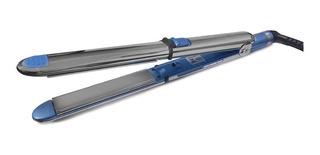 Plancha de cabello BaByliss PRO Optima 3100 plata y azul con placas de titanio 110V - BABNT3100TC