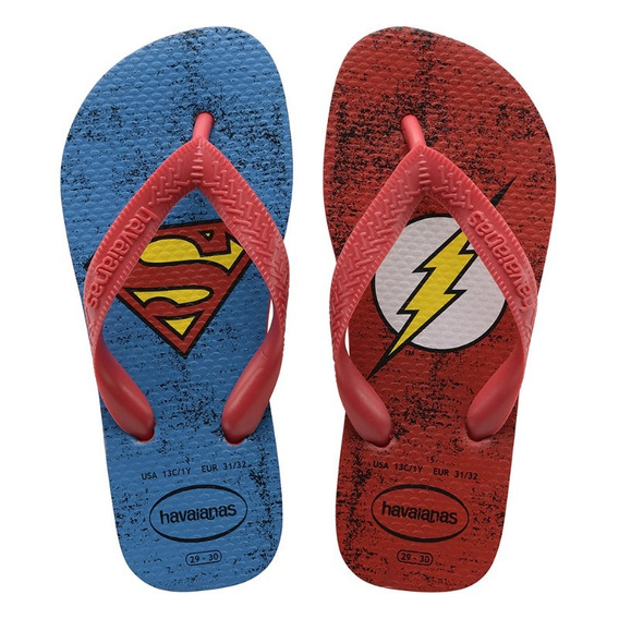 Havaianas Kids Dc Heróis Vermelho The Flash Superman