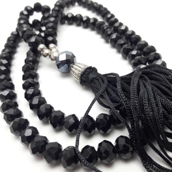 Colar Japamala Ho´oponopono Cristais (preto)