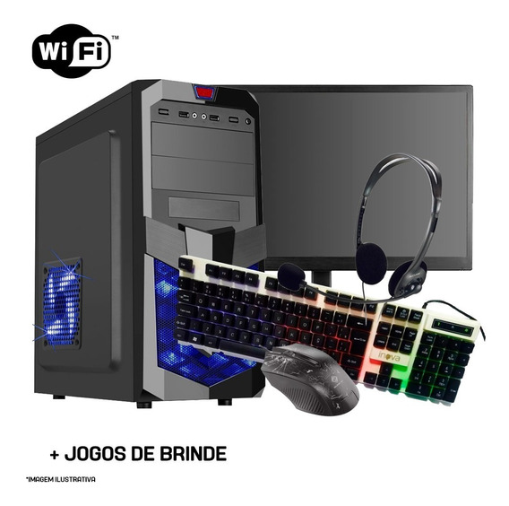 Pc Completo Gamer I5, Monitor, Teclado, Mouse, Headset, Wifi