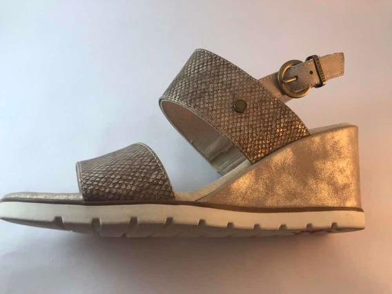 Sandalias Taco Chino Stitching
