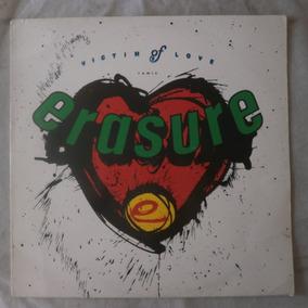 Lp Erasure 1987 Victim Of Love, Single Importado Espanha