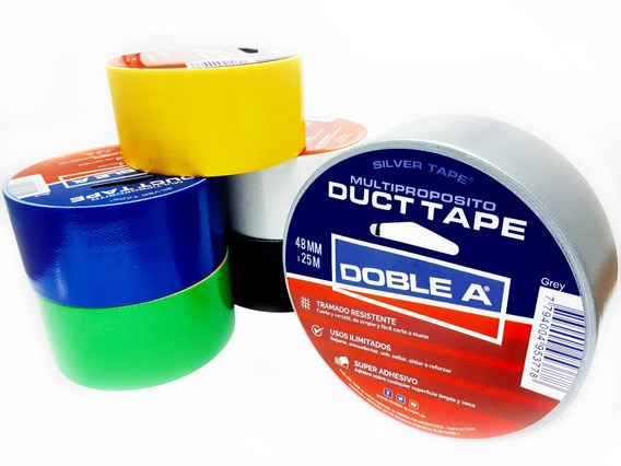 Cinta Ductape Multipropósito Doble A 48mm X 25mts Colores